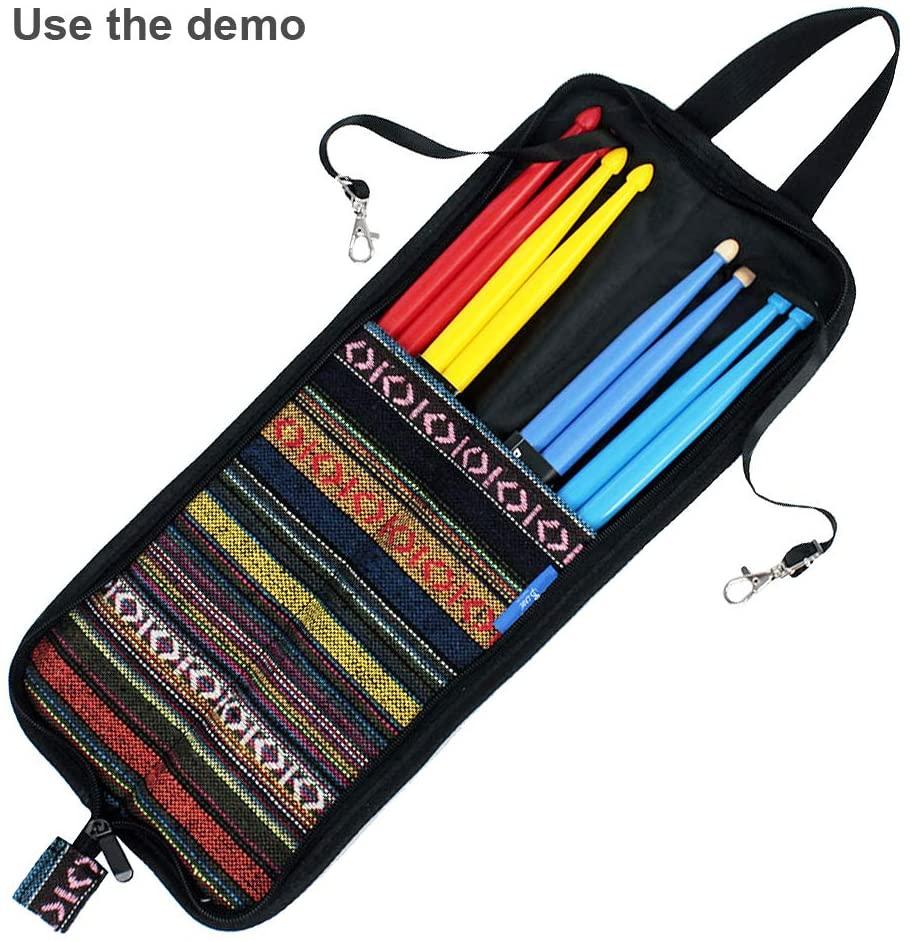 OriGlam Drum Stick Bag Holder, Mallet Bag Drumstick Bag, Drumstick Bag Case, Drum Stick Holder, Percussion Drum Mallet Bag