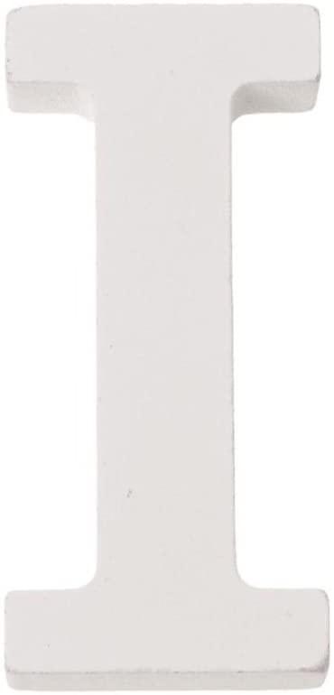 Glorex Letter I MDF 5,5x0,9cm 1st 5.5x 2x 1cm, White