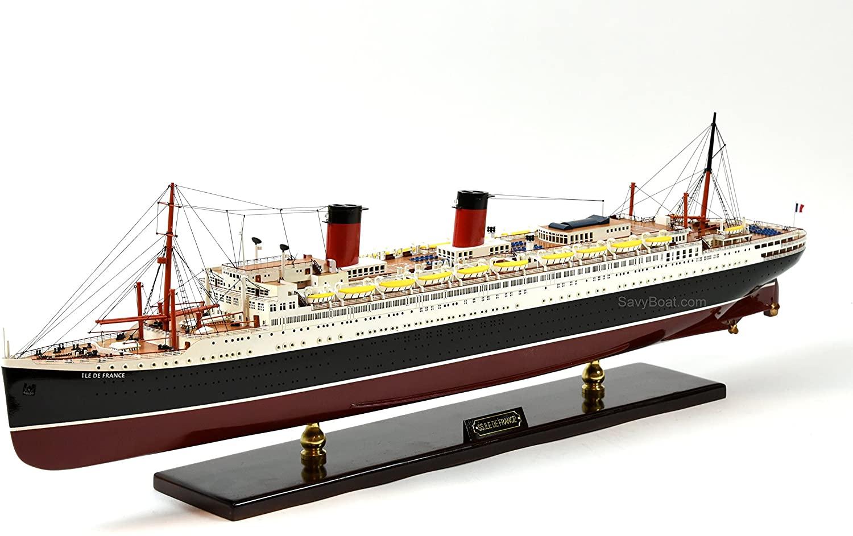 SS ILE De France French Ocean Liner Ship Model 38