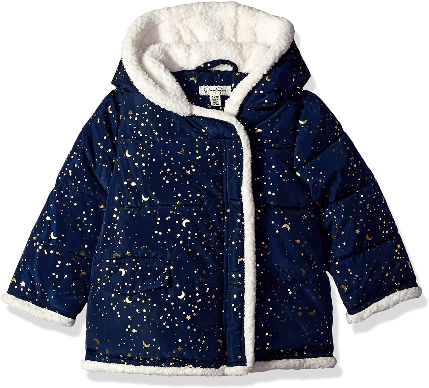 Jessica Simpson Baby Girls Printed Bubble Jacket