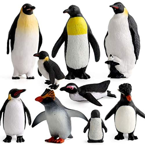 Penguin family, marine animal simulation penguin static model, applied to children's educational toys, gifts home decoration