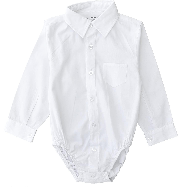 Littlest Prince Couture Infant/Toddler Dress Shirt Bodysuit