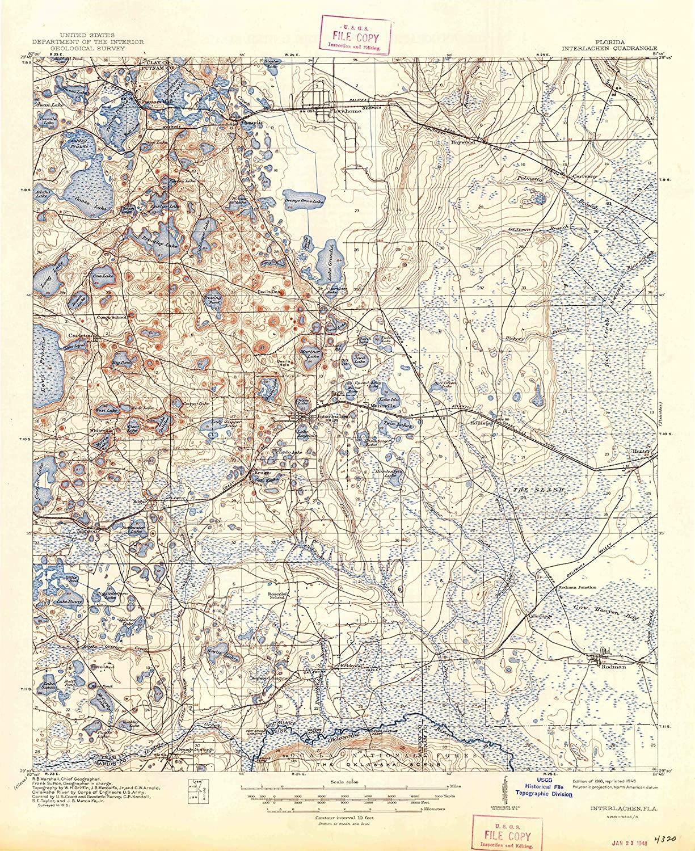 Map Print - Interlachen, Florida (1916), 1:62500 Scale - 24
