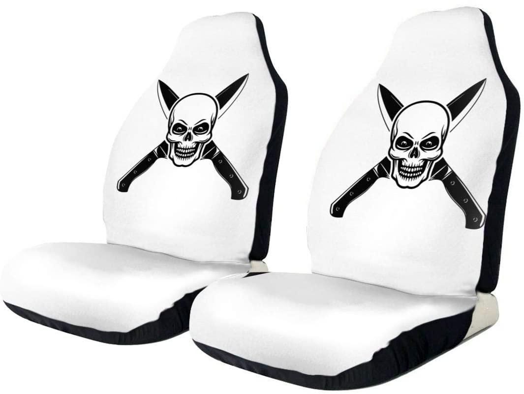 KLQ Skull Cooking Master Car Seat Cover Saddle Blanket Seat Pad Protectors