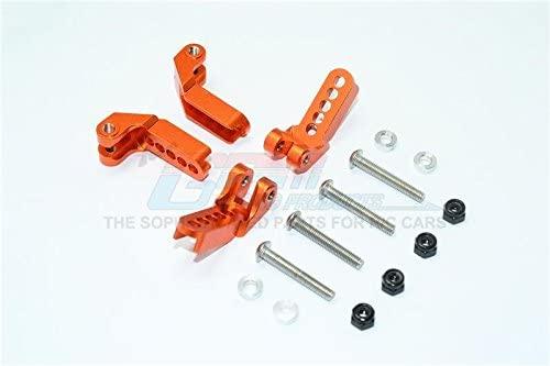 Traxxas TRX-4 Trail Defender Crawler Upgrade Parts Aluminum Adjustable Front and Rear Damper Mount - 4Pc Set Orange