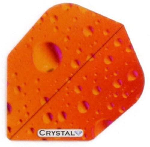 US Darts 3 Sets (9 Flights) Xtra Strong R4x Crystal Red Slim Clear Dart Flights