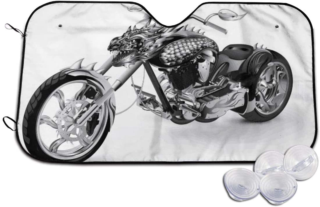 THONFIRE Car Windshields Sunshade Motorcycle Blocks Heat Keeps Your Vehicle Cool Visor Protector Minivan Front Window Heatshield
