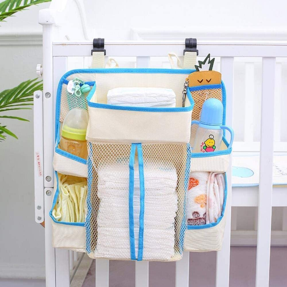 Hanging Baby Diaper Caddy Organizer, Portable Waterproof Diaper Stacker for Changing Table, Crib, Car, Nursery Organization Baby Shower Gifts