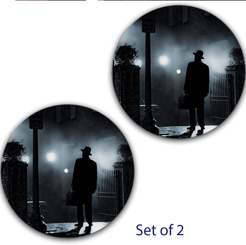 Set of Two Exorcist Horror #3#1 DJ Slipmat 12 inch LP Scratch Pad Slip Mat Audiophile Vinyl Lovers