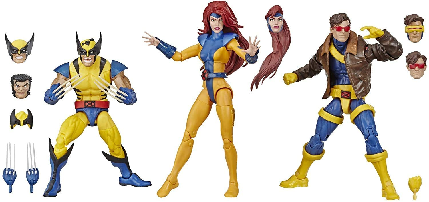 COLLECTOR X Men Legends- 3 Pack! Wolverine, Jean Grey and Cyclops! Each Figure is 14cm