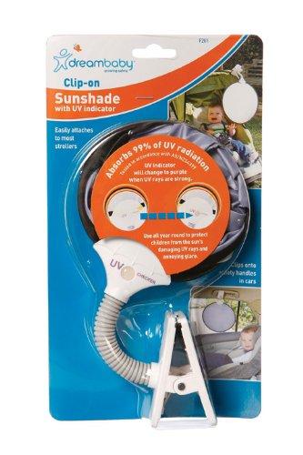 Dreambaby Clip On Sun Shade with UV Indicator