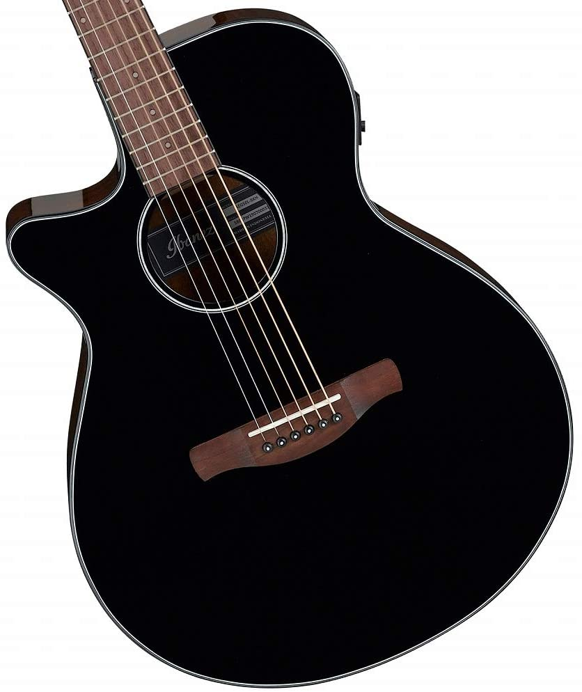Ibanez AEG50L Left-Handed Acoustic-Electric Guitar - Black High Gloss
