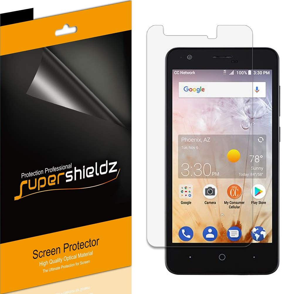 (6 Pack) Supershieldz for ZTE Avid 559 Screen Protector, High Definition Clear Shield (PET)