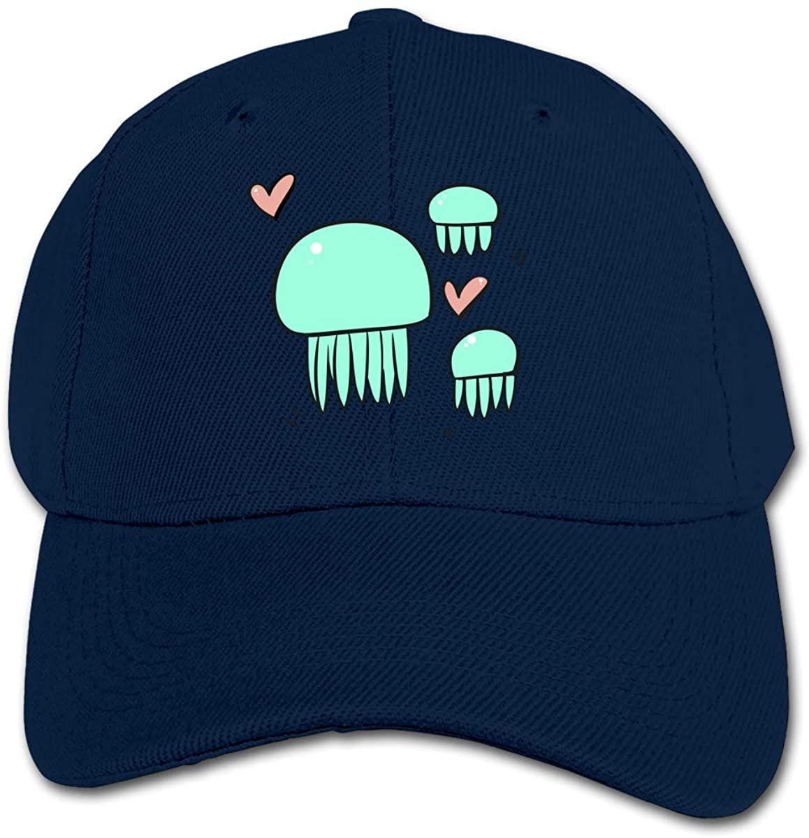 Jellyfish Kid's Daily Sun Protection,Casual, Baseball Cap, Adjustable Cartoon Hat Cap