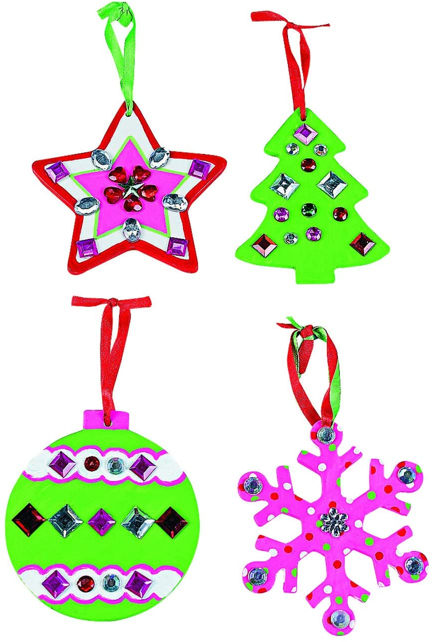 Do It Yourself Christmas Ceramic Ornaments - Crafts for Kids and Fun Home Activities
