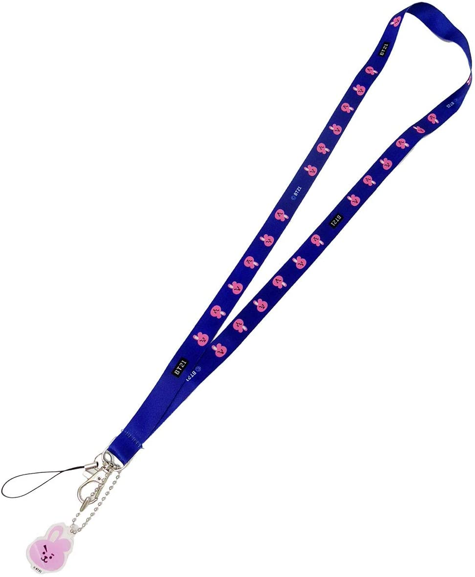 BTS Bangtan Boys Carton Lanyard Keychain ID Badge Holder Neck Strap (Cooky)