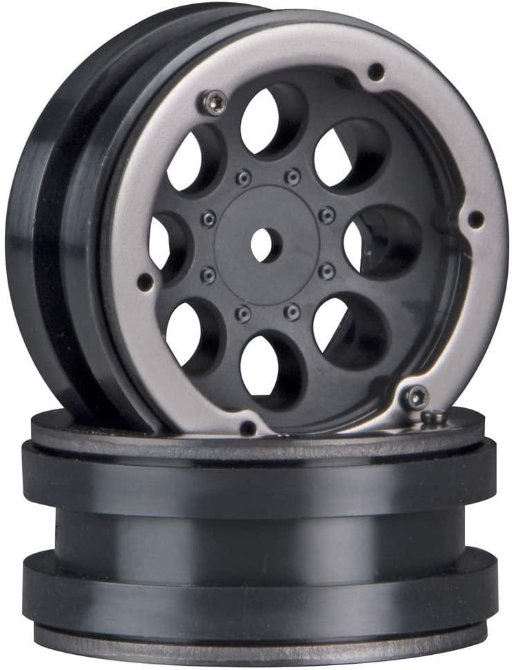 Axial AX8087 8-Hole 1.9 Beadlock Wheel, Black (Set of 2): AXIC8087