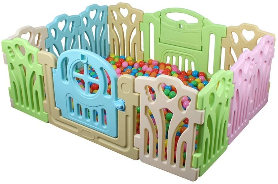 HWZQHJY Baby Playpen Kids Activity Centre Safety Play Yard Home Indoor Outdoor New Pen (Size : 12 Pieces 118155cm)