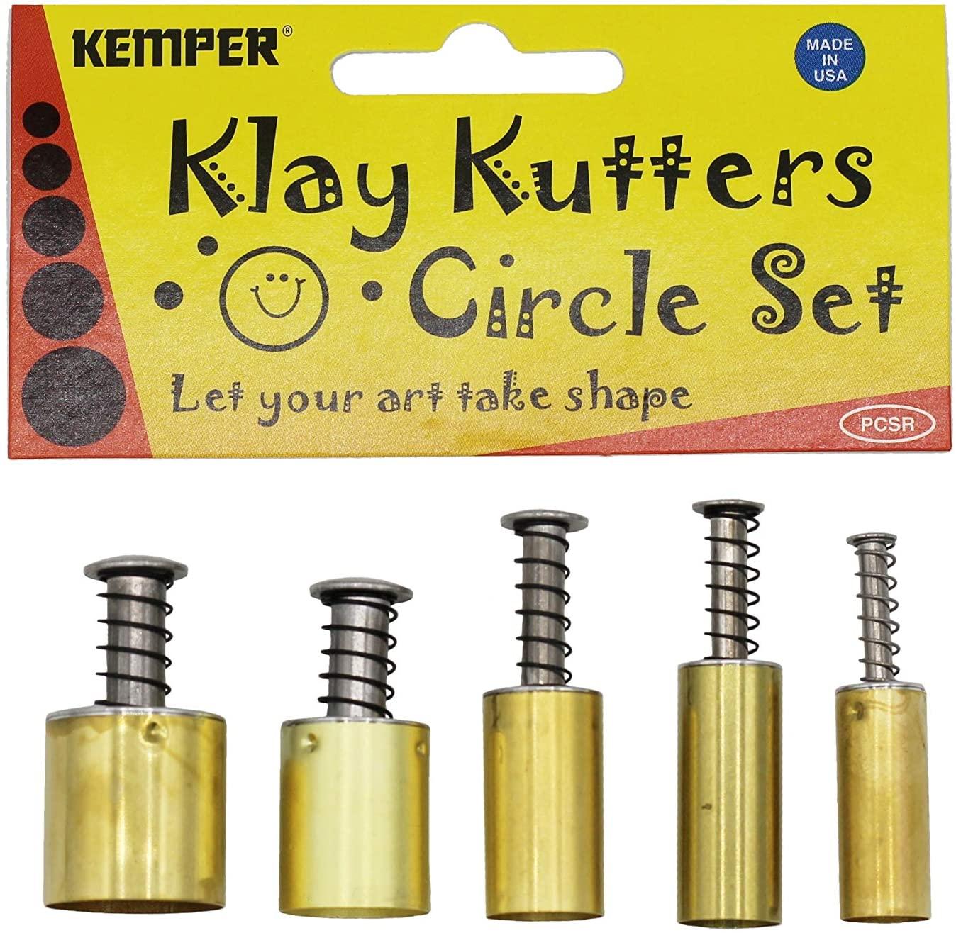 Kemper Klay Kutters Circle Set Clay Bread Dough Modeling Paste Paint & More!