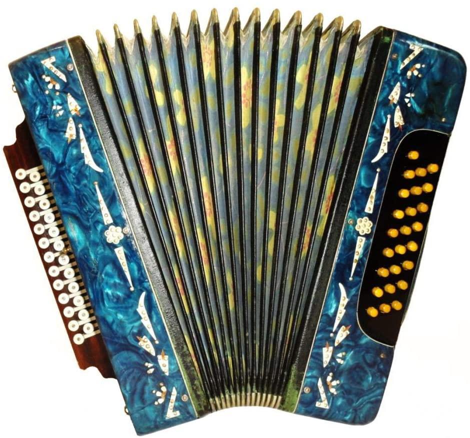 Russian Handmade Garmon, Vintage Harmonica, 25 x 25, Folk Button Accordion, Bayan, 508, Amazing sound!