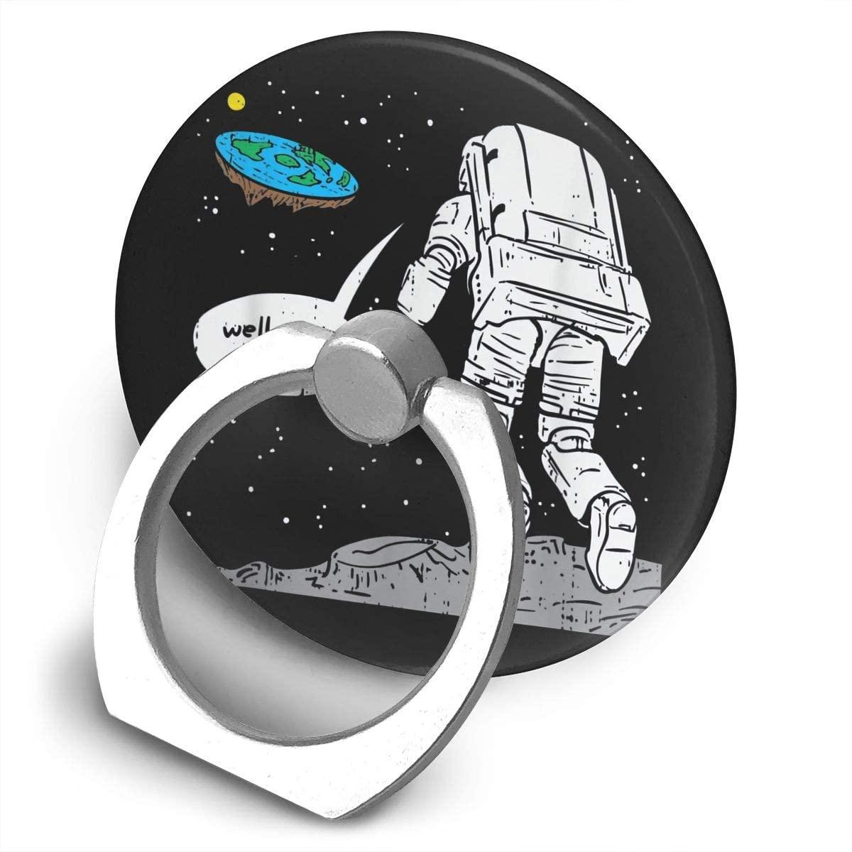Zwj Funny Moon Landing, Flat Earth, That Sucks Alloy Mobile Phone Ring Bracket,360 Degree Rotating Ring Stand Grip Mounts