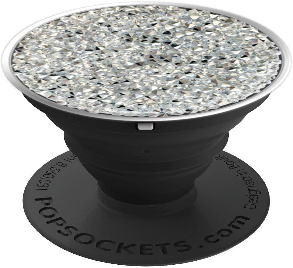 Silver Grey Graphic Printed PopSockets Grip and Stand for Phones and Tablets