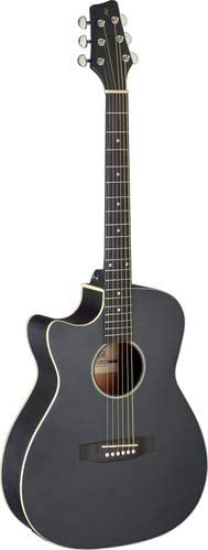 Stagg 6 String Acoustic-Electric Guitar, Left (SA35 ACE-BK LH)