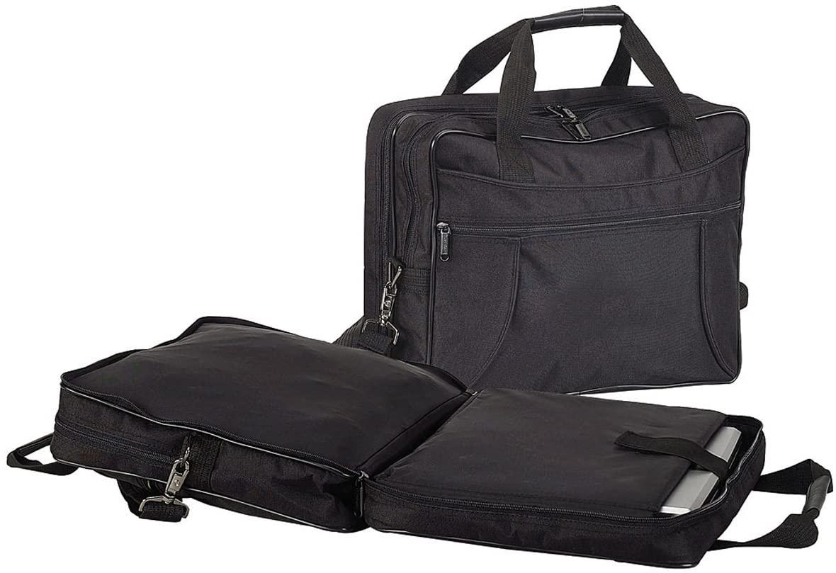Preferred Nation Scan Express Compcase Briefcase, Black