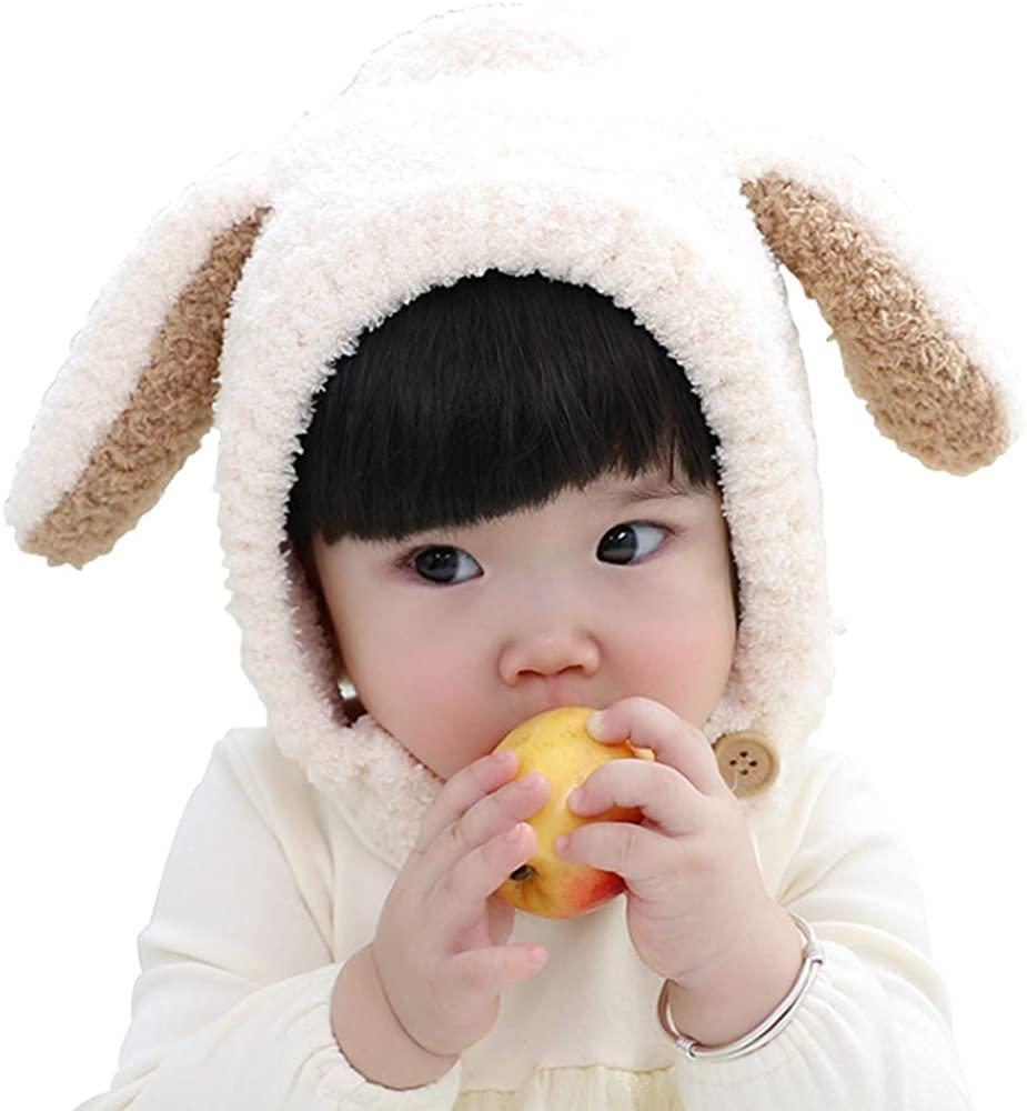 Ding Dong Baby Toddler Kid Boy Girl Winter Rabbit Earflap Hat