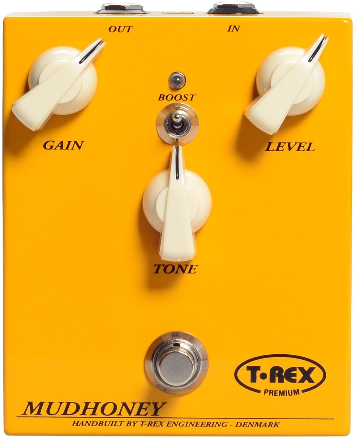 T-Rex Engineering MUDHONEY-CLASSIC Distortion Guitar Effects Pedal Hand Wired in Denmark, Classic Crunchy, Fuzzy Distortion with Gain, Level and Tone Adjustability (10040)