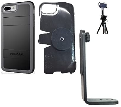 SlipGrip Tripod Mount for Apple iPhone 8 Plus Using Pelican Protector Case