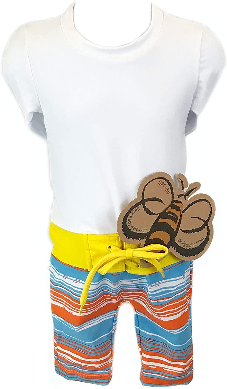 Babyboy Orange Toddler UPF 50+ Sun Protection Long Sleeve One Piece Swimsuit with Zipper