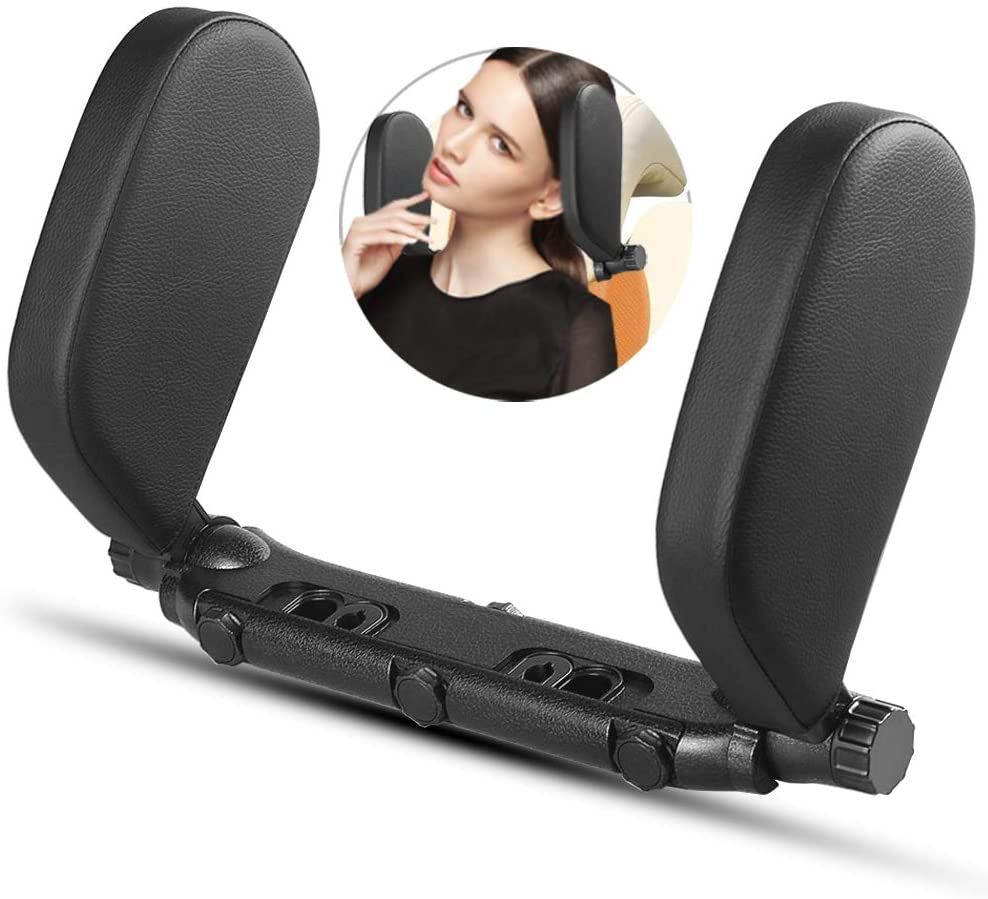 STAND BY ME Car Headrest Pillow, Car Neck Pillow Head Pillow, Adjustable Both Sides U Shaped Travel Vehicle Seat Head Support Pillow for Kids Adults Elders Teenagers