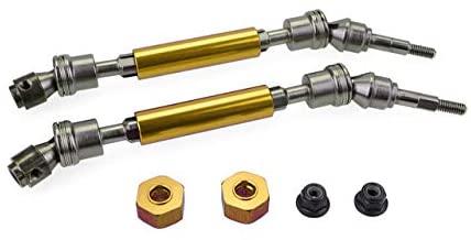 Parts & Accessories Metal Front CVD Drive Shaft for 1/10 Slash-4x4 RC car Model Durable 115-140mm Remote Control car Parts Kids Toys - (Color: Gold-Rear, CN)