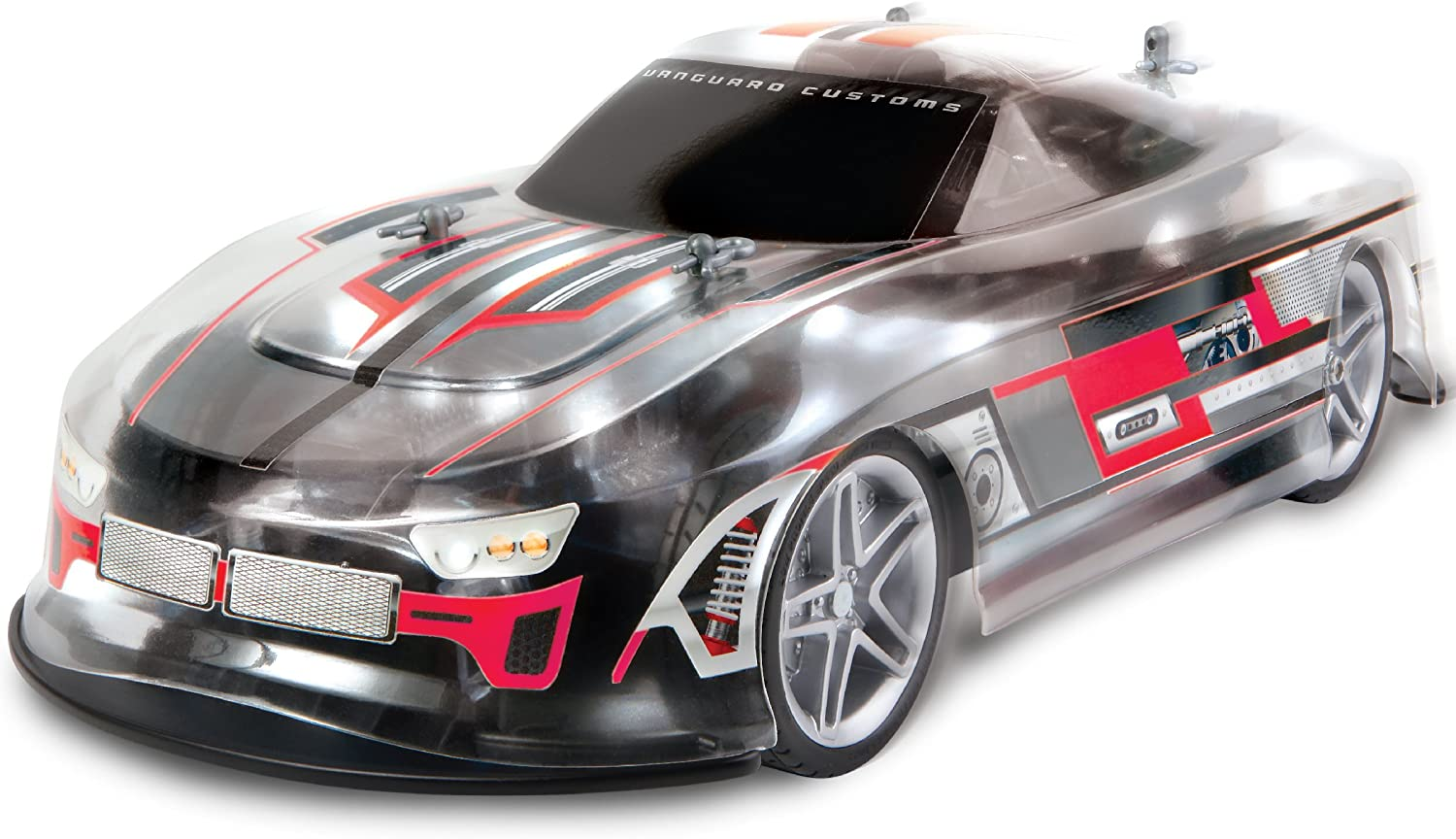 Sharper Image RC LED Lightning Thrasher Race Car Toy, Full Function Wireless Remote Control, 2.4 GHz for Multiple Vehicle Racing, Quick Speed High Performance Tires, Bright Lights for Nighttime
