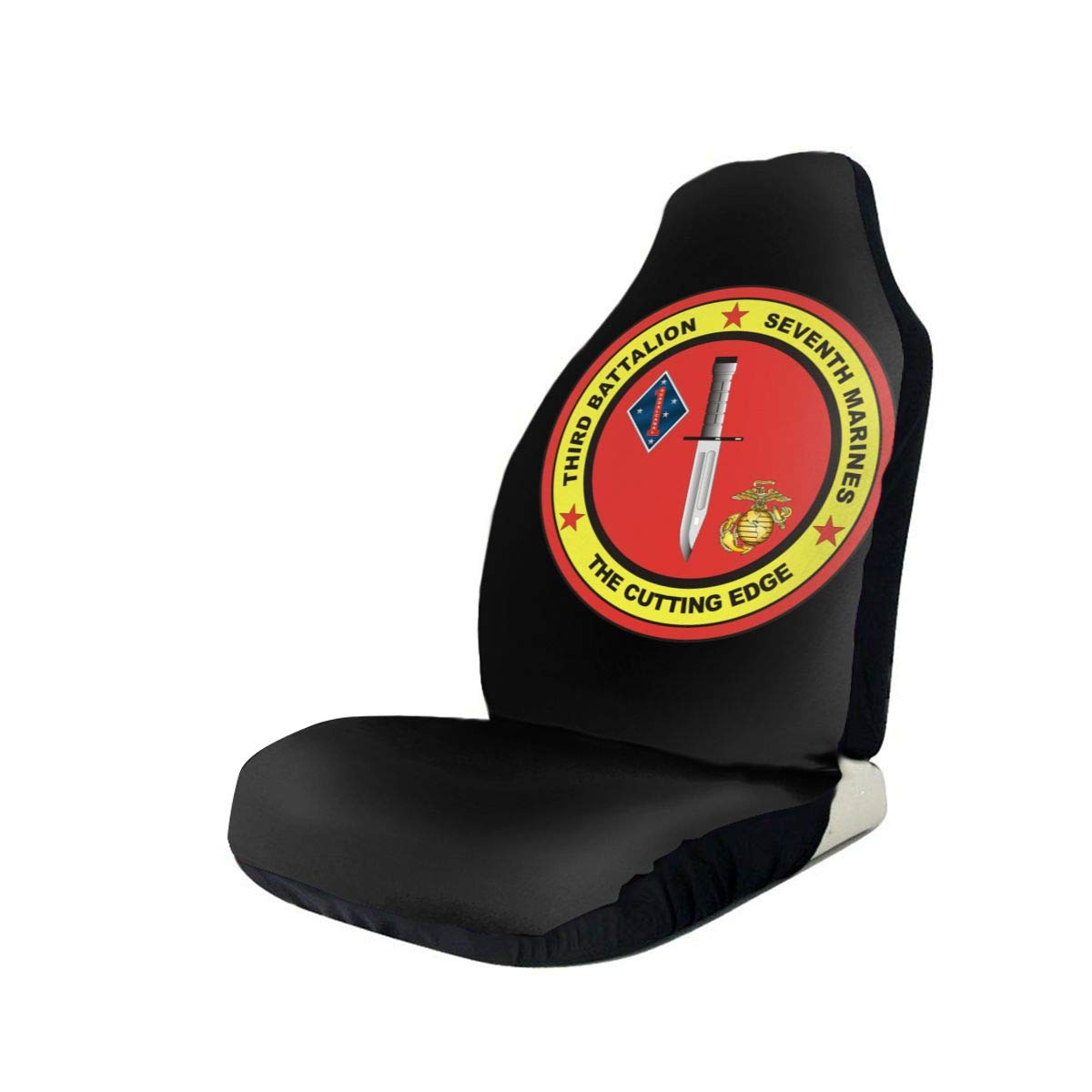 3rd Battalion 7th Marines Anti-Skid and Waterproof Car Seat Covers Protector Fits Most Cars, Auto SUVs Trucks