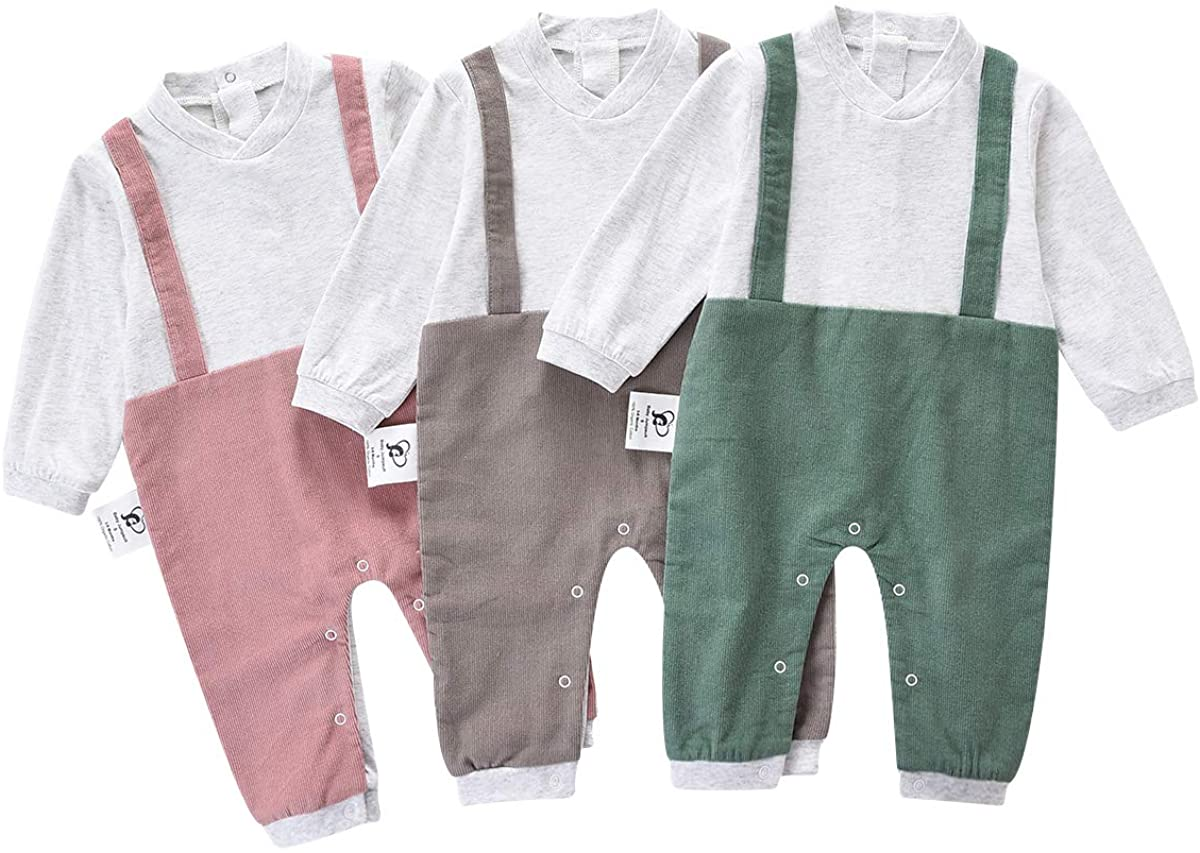 TADO MUSLIN Baby Jumpsuit,100% Organic Cotton One-Piece Coverall for Boy and Girl