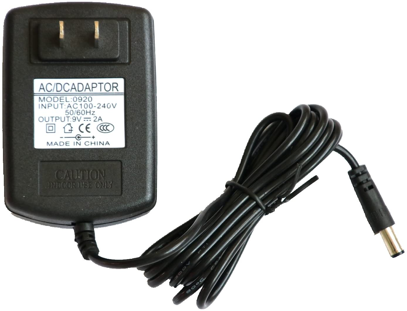 Nicer-S New 9V AC Adapter Power Charger for BOSS/Roland PSB-120 ACB-120 PSB-1U PSB1U; BOSS Roland GT-10 GT-10B BCB-60 VG-99 Multi-Effects Guitar, Bass Effect Pedal Board Power Supply Cord PSU