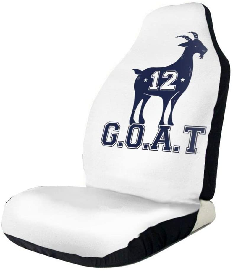 Retrom-Market Greatest of All Time New England Goat Car Seat Covers,Airbag Compatible,Ventilation