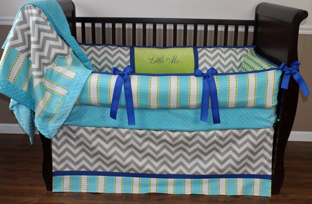 Modpeapod BUMPERLESS Chance Baby Bedding Set
