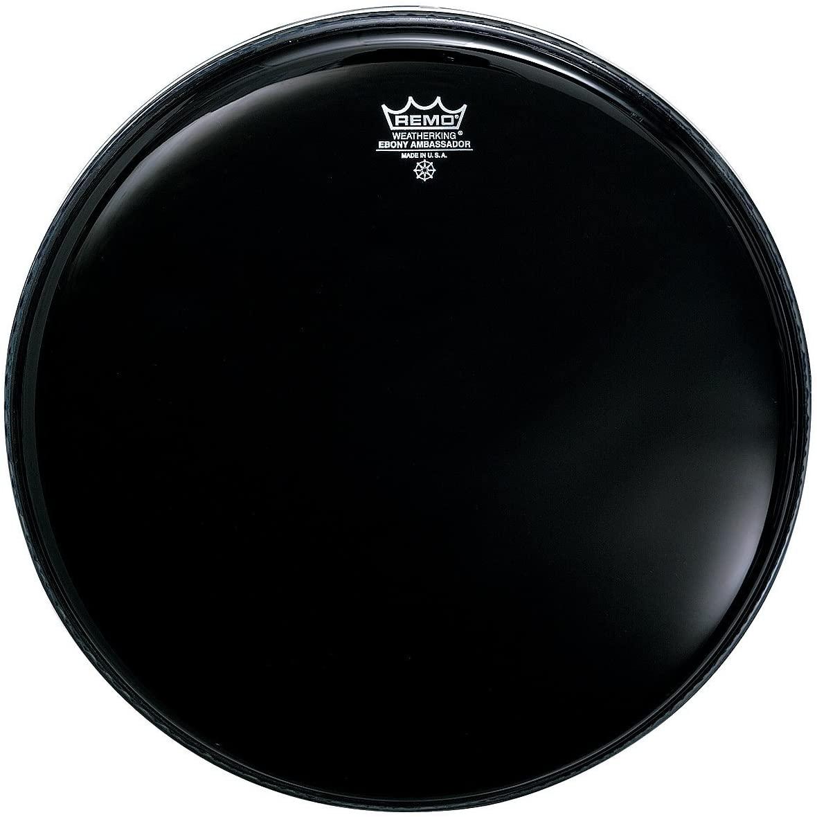 Remo ES001200 Ebony Ambassador Drum Head, 12-Inch