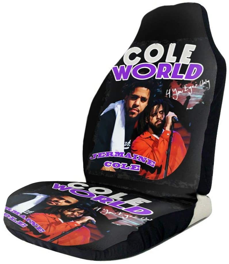 Gerneric Hip Hop Singer Jcole Around Coleworld Rapper Stylish and Comfortable Car Seat Cover, Dirt-Resistant and Washable