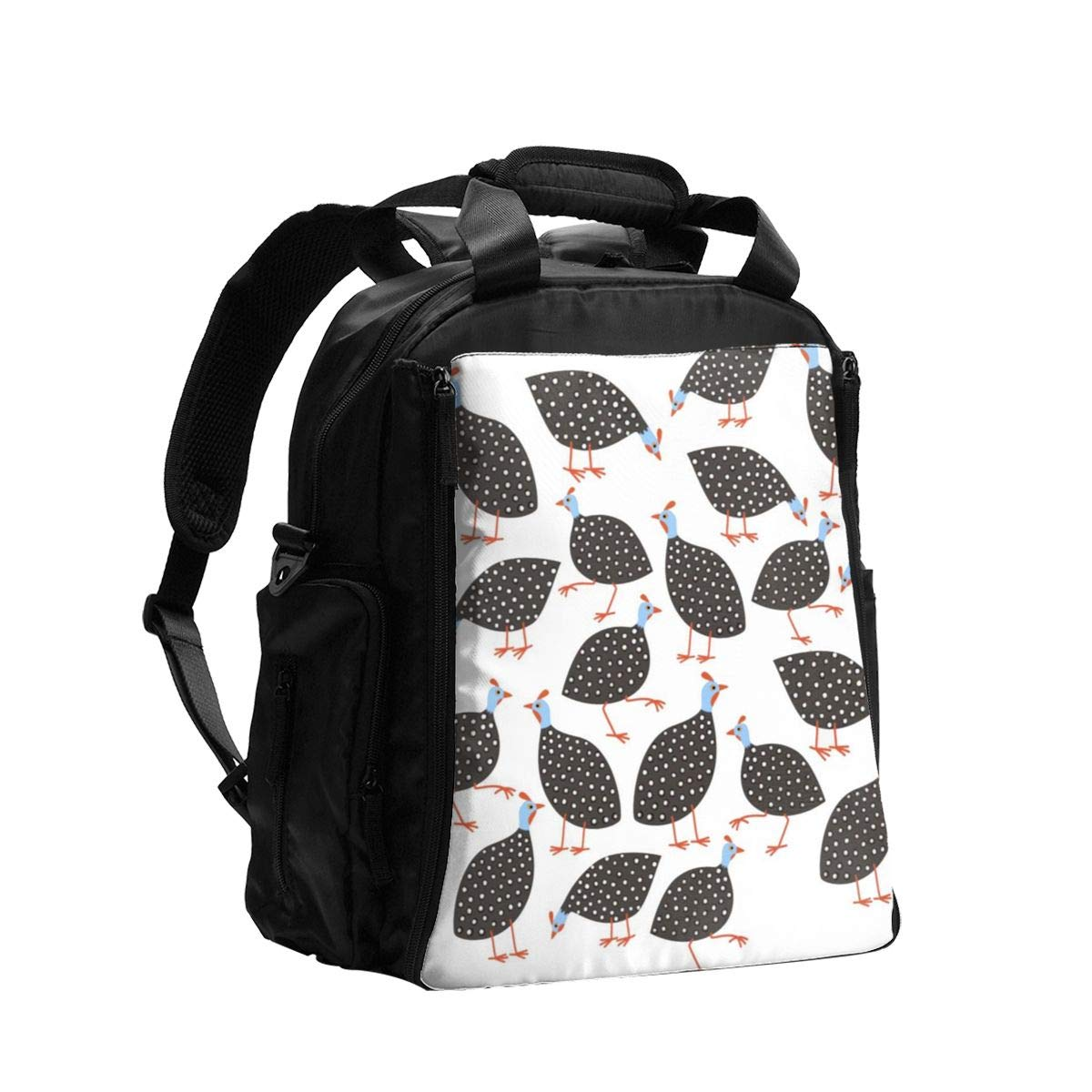 Guinea Hens Diaper Bag Backpack Travel Backpack Maternity Baby Changing Bags