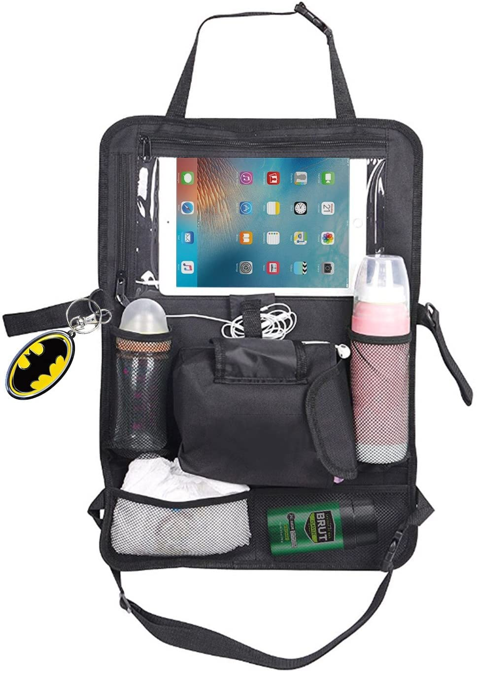 Prorighty Multi-Purpose Car Back Seat Organizer for Seat Protection with 12 Pockets for Storage| Tablet or iPAD Holder-Great for Car Trips</b>