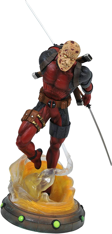 DIAMOND SELECT TOYS Marvel Gallery: Unmasked Deadpool PVC Figure, Multicolor