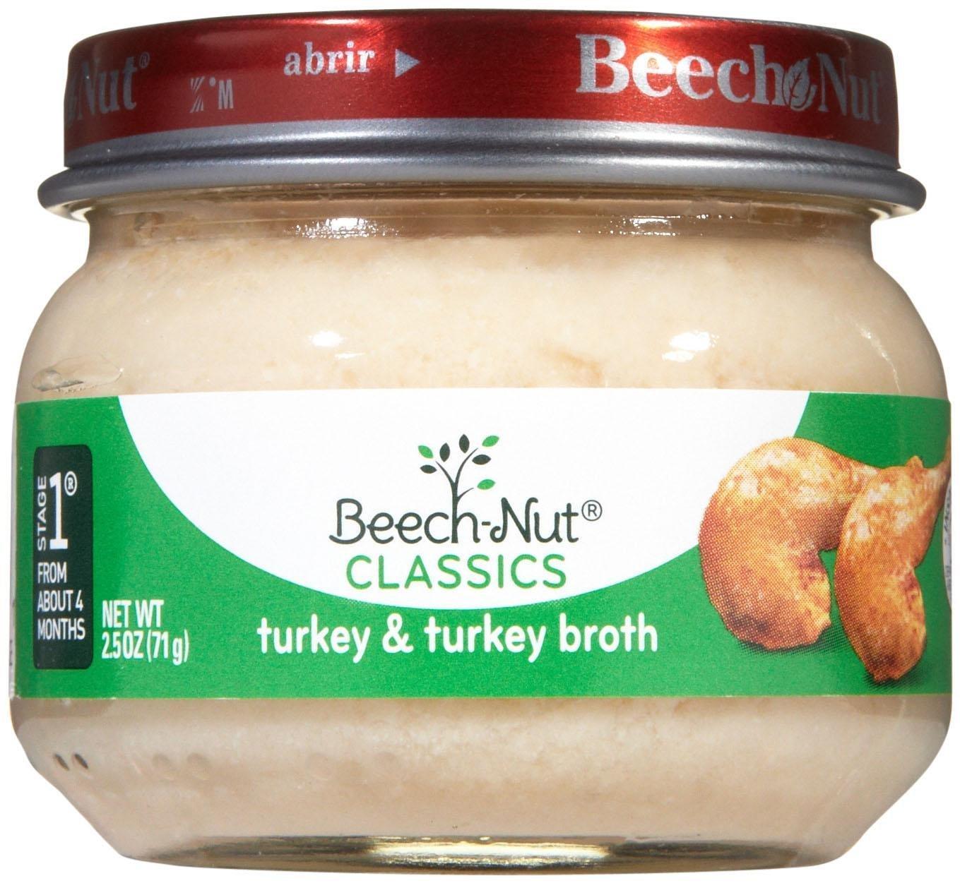 Beech-Nut Stage 1 Meats - Turkey & Broth - 2.5 oz - 10 pk
