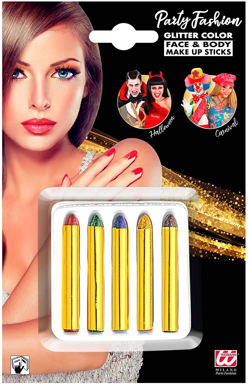 5 Pack Of Glitter Make Up Sticks