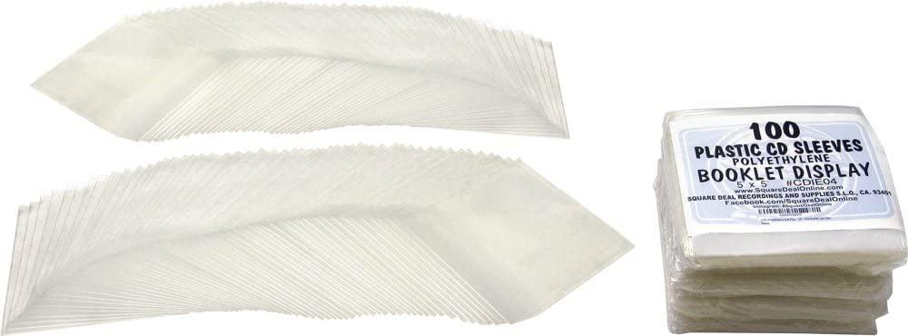 (500) Polyethylene Soft Plastic CD Sleeves - 5