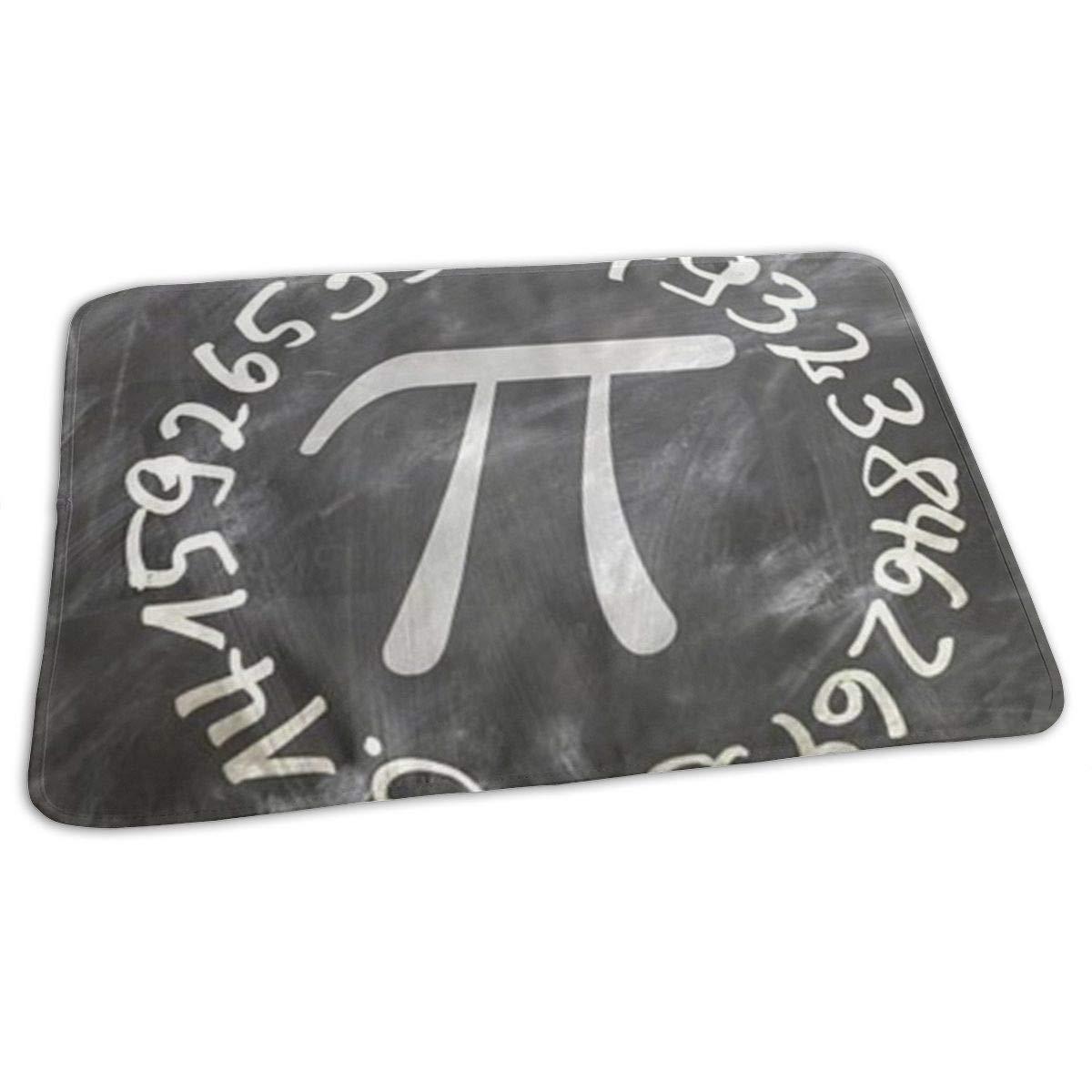 Interesting Mathematics of Pi Baby Changing Pad Waterproof Portable Changing Pad Home Travel 27.5¡±x19.7¡±
