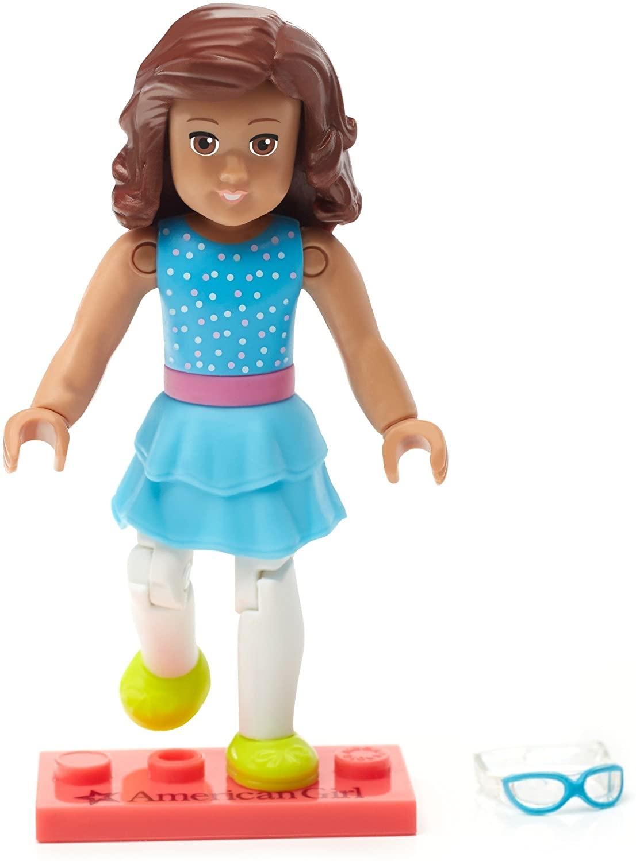 Mega Bloks American Girl Collectible Blue Confetti Figure